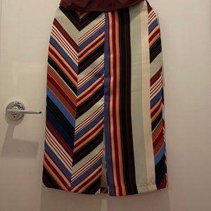 Patterned Front Slit Pencil Skirt/Hip Skirt